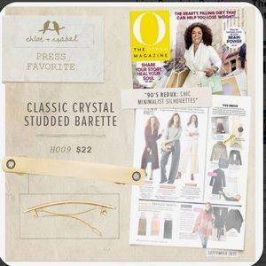 Chloe + Isabel Classic Crystal Studded Barrette